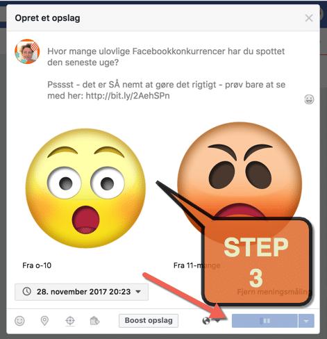lage meningsmåling på facebook